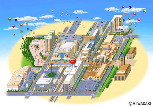 南大沢マップ(駅前パネルばり・パンフ)